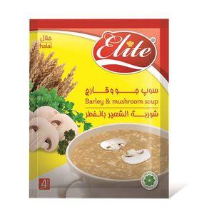 سوپ جو و قارچ 65 گرمی  الیت