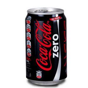 نوشابه زیرو قوطی 330 سی سی کوکاکولا
