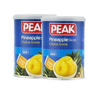پک دو عددی کمپوت آناناس حلقه 565 گرمی پیک