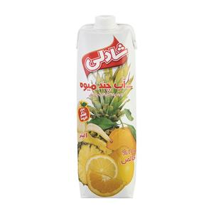 آب چند میوه بدون شکر 1 لیتری شادلی