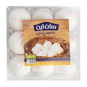 سوپر مارکت اینترنتی تخم مرغ بسته طلقی 9 عددی سان تین