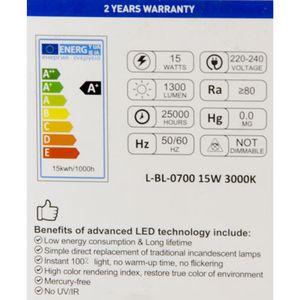 خرید اینترنتی لامپ ال ای دی حبابی آفتابی 15 وات کلور
