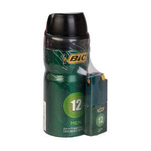 پک اسپری بدن شماره 12و عطر مردانه بیک