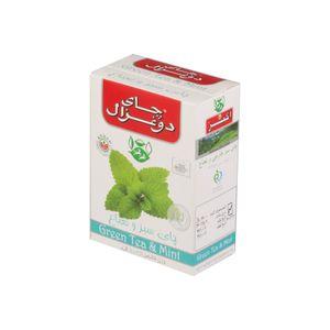 چای سبز جعبه مقوایی نعنا100 گرمی دو غزال