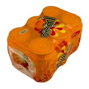 خرید اینترنتی پک 6 عددی نوشابه  قوطی پرتقالی  330سی سی میراندا