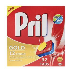 قرص ماشین ظرفشویی طلایی 32 عددی پریل