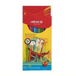 مداد رنگی 1+12  جعبه مقوایی آریا