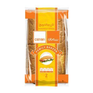 نان ساندویچی دو تایی 300 گرمی سه نان