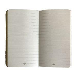 خرید اینترنتی دفترچه یادداشت کش د ار جلد چرمی ماشینی زرد کلیپس