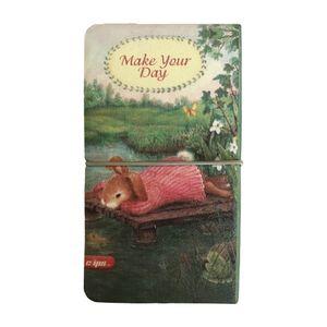دفترچه یادداشت کش د ار جلد چرمی خرگوش کلیپس