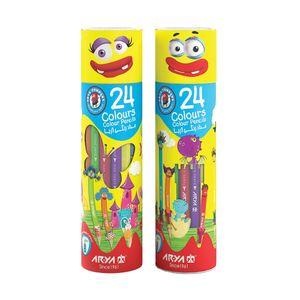 سوپر مارکت اینترنتی مداد رنگی 24 رنگ استوانه ای آریا
