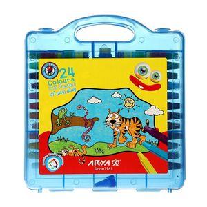پاستل 24 رنگ کیفی پلاستیکی آبی آریا