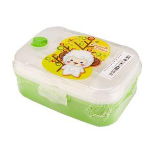 ظرف غذای کودک مستطیل سوپاپدارکوچک گوسفند سبز آریا