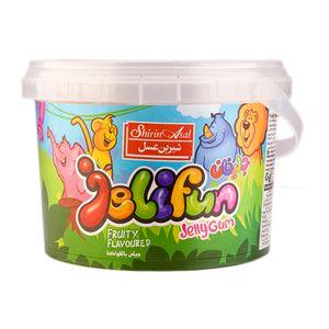 پاستیل باغ وحش ظرف پلاستیک 300گرمی شیرین عسل