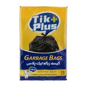 کیسه زباله 18 عددی 50*60 تیک پلاس