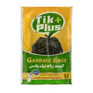 کیسه زباله 14 عددی 70*55 تیک پلاس