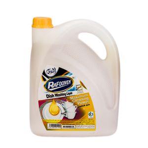 مایع ظرفشویی زرد 3750 گرمی رافونه