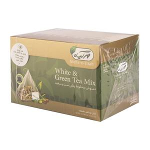 دمنوش چای سبز و سفید 14 عددی مهرگیاه
