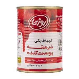 گوجه پوست کنده 380 گرمی(12تایی)روژین تاک