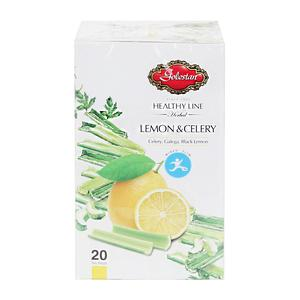 خرید اینترنتی دمنوش گیاهی لاغری لیمو و کرفس 20عددی گلستان