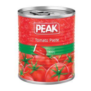 کنسرو رب گوجه قوطی 800 گرمی پیک