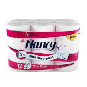 دستمال توالت 3 لایه 12 رول نانسی