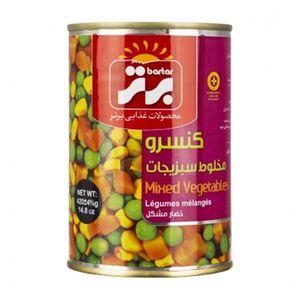 کنسرو  مخلوط سبزیجات 420 گرمی برتر