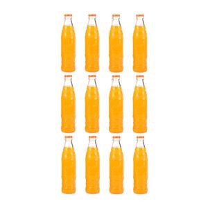 نوشابه پرتقالی شیشه ای 12 عددی میراندا