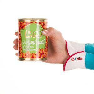 سوپر مارکت اینترنتی کنسرو لوبیا چیتی با سس گوجه فرنگی 400 گرمی رعنا