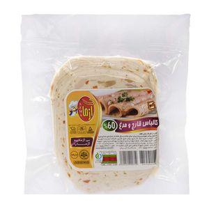 کالباس قارچ و مرغ 60% 300 گرمی آزما