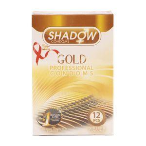 کاندوم طلایی بسته 12 عددی شادو