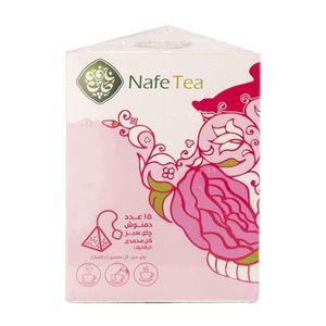 چای سبز و گل محمدی ارگانیک 15 عددی نافه
