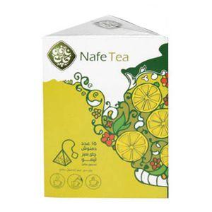 چای سبز لیمو ترش ارگانیک 15 عددی نافه