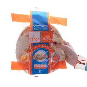 خرید اینترنتی نان تافتون سبوس 450 گرمی سه نان