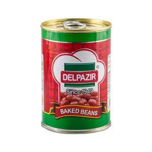 سوپر مارکت اینترنتی کنسرو لوبیا با سس گوجه فرنگی 420 گرمی دلپذیر